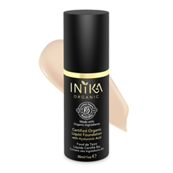Inika - Certified Organic Liquid Foundation with Hyaluronic Acid 30ml - Porcelain